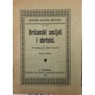 KRŠĆANSKI SOCIJALI I OBRTNICI , KRŠĆANSKO-SOCIJALNA BIBLIOTEKA